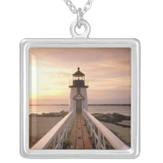 North America, USA, Massachusetts, Nantucket 4 Silver Plated Necklace