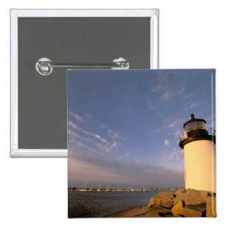 North America, USA, Massachusetts, Nantucket 2 Inch Square Button