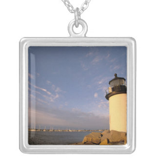 North America, USA, Massachusetts, Nantucket Silver Plated Necklace