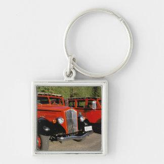 North America, USA, Montana. Classic 1934 Ford Silver-Colored Square Keychain