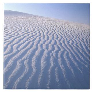 North America, USA, New Mexico, White Sand Dunes Ceramic Tile
