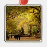 North America, USA, New York, New York City. 12 Christmas Tree Ornaments