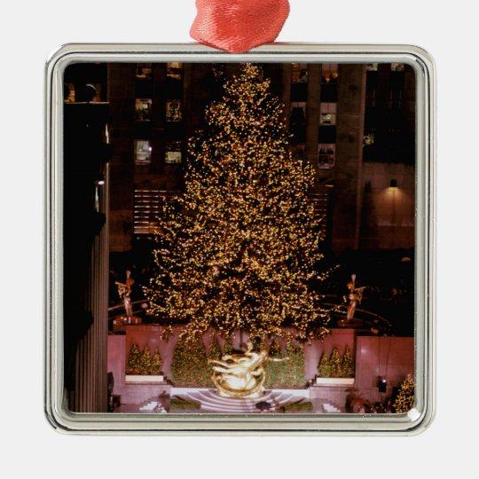 North America, USA, New York, New York City. 2 Metal Ornament