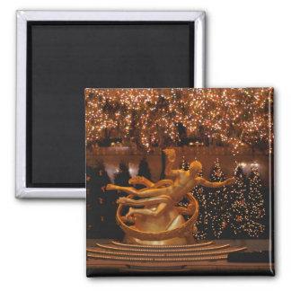 North America, USA, New York, New York City. 6 2 Inch Square Magnet
