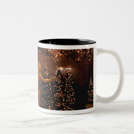 North America, USA, New York, New York City. 6 Two-Tone Coffee Mug
