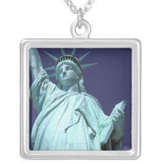 North America, USA, New York, New York City. 7 Square Pendant Necklace