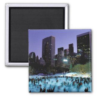 North America, USA, New York, New York City. 9 2 Inch Square Magnet