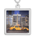 North America, USA, New York, New York City Silver Plated Necklace