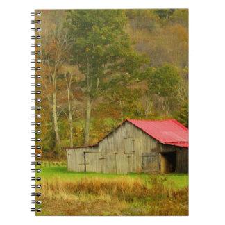 North America, USA, North Carolina, rural Spiral Notebook