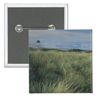 North America, USA, Oregon, Canon Beach, 2 Inch Square Button