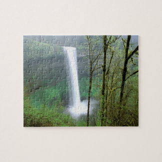 North America, USA, Oregon, Silver Falls State Jigsaw Puzzle