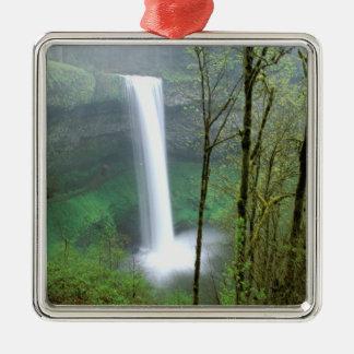 North America, USA, Oregon, Silver Falls State Metal Ornament