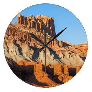 North America, USA, Utah, Torrey, Capitol Reef 3 Large Clock