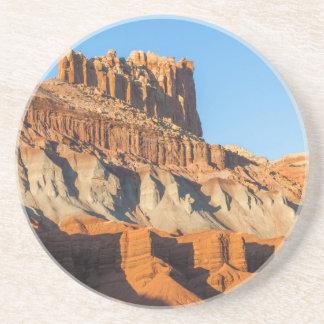 North America, USA, Utah, Torrey, Capitol Reef 3 Sandstone Coaster