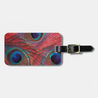 North America, USA, WA, Redmond, Peacock Luggage Tag