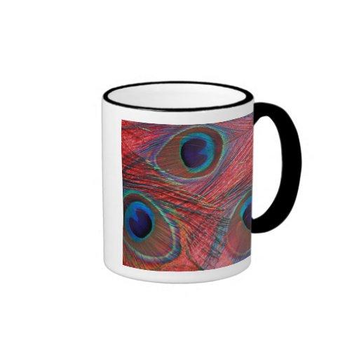 North America, USA, WA, Redmond, Peacock Ringer Coffee Mug