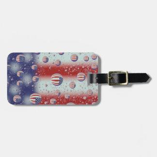 North America, USA, WA, Redmond, U.S. Flag Luggage Tag