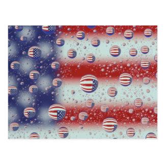 North America, USA, WA, Redmond, U.S. Flag Postcard