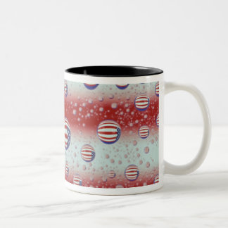 North America, USA, WA, Redmond, U.S. Flag Two-Tone Coffee Mug