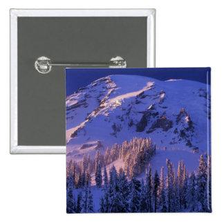 North America, USA, Washington, Mt. Rainier 5 Button