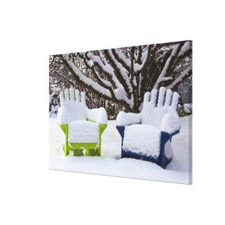 North America, USA, Washington, Seattle, Snow 3 Canvas Print