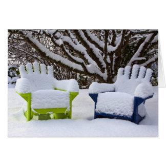 North America, USA, Washington, Seattle, Snow 3 Greeting Card