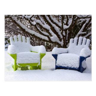North America, USA, Washington, Seattle, Snow 3 Postcard