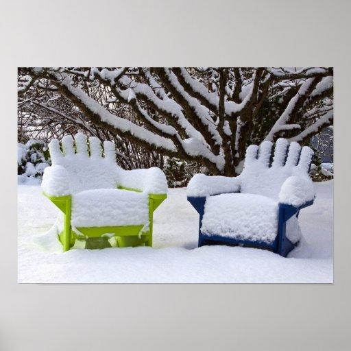 North America, USA, Washington, Seattle, Snow 3 Print