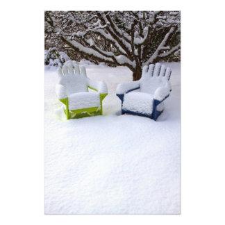 North America, USA, Washington, Seattle, Snow Photo Print