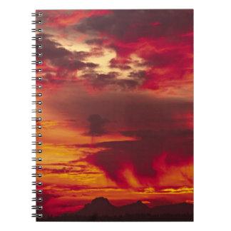 North America, USA, Washington, Seattle. Sunrise Notebook