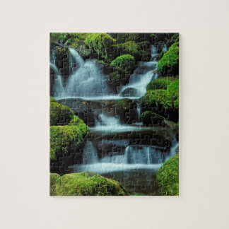 North America; USA; Washington, Sol Duc Cascade Jigsaw Puzzle