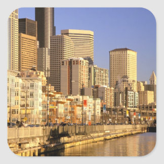 North America, USA, Washington State, Seattle. 4 Square Sticker