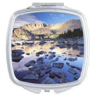 North America, USA, Wyoming, Yellowstone 3 Compact Mirror