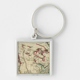 North America with boundaries outlined Keychain