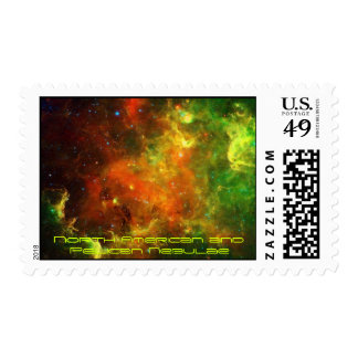 North American and Pelican Nebulae Postage