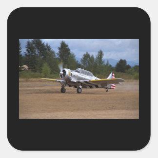 North American, AT-6, WWII_Classic Aviation Square Sticker