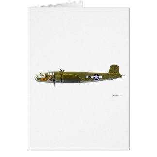North American B-25J Mitchell Card