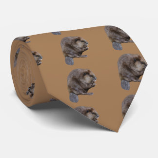 North American beaver Neck Tie