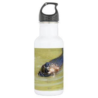 North American Beaver swimming Stainless Steel Water Bottle