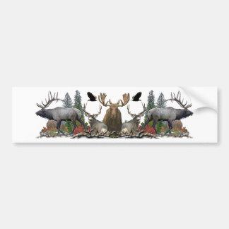 North American big game Bumper Sticker