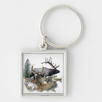 North American big game Key Chains