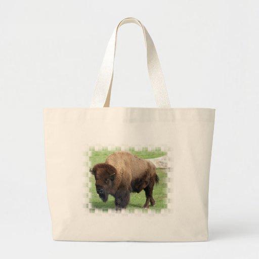 North American Bison Jumbo Tote Bag