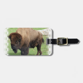North American Bison Luggage Tag