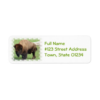 North American Bison Return Address Label