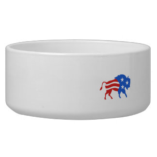 North American Bison USA Flag Retro Bowl