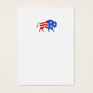 North American Bison USA Flag Retro Business Card