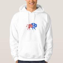 North American Bison USA Flag Retro Hoodie
