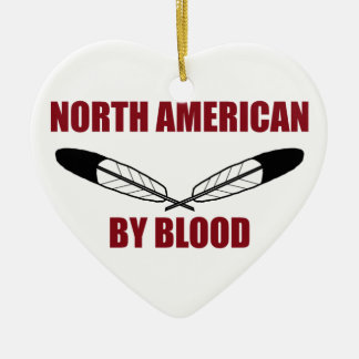 North American By Blood Christmas Ornaments