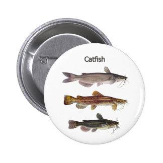 North American Catfish Logo Button