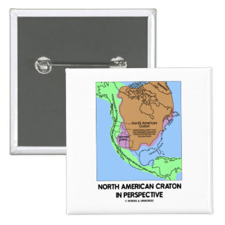 North American Craton In Perspective Pinback Button
